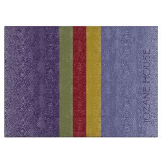 Color Pop Palette Stripes Personalized Boards