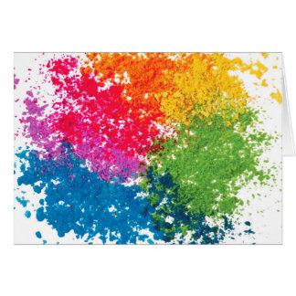 Color Powder Rainbow Card