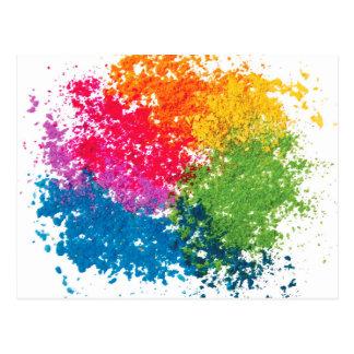 Color Powder Rainbow Postcard