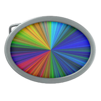 Color Prism Oval Belt Buckle