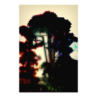 Color rain photo print