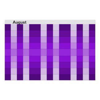 Color Rainbow Poster Month August Calendar 8