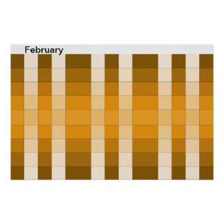 Color Rainbow Poster Month February Calendar 14