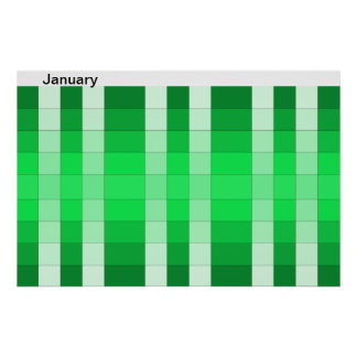 Color Rainbow Poster Month January Calendar 1