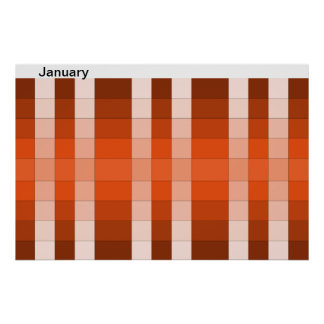 Color Rainbow Poster Month January Calendar 13