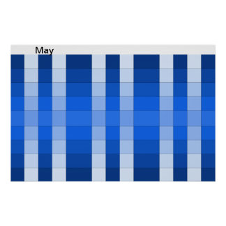 Color Rainbow Poster Month May Calendar 5
