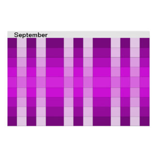 Color Rainbow Poster Month September Calendar 9