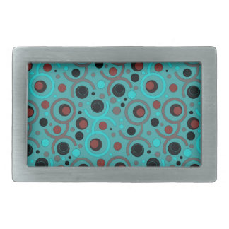 COLOR ROUND PATTERN GIFT IV A50 RECTANGULAR BELT BUCKLES
