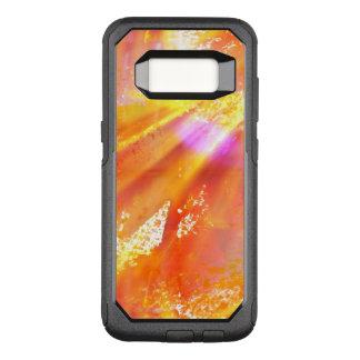 color seamless art background yellow, orange OtterBox commuter samsung galaxy s8 case