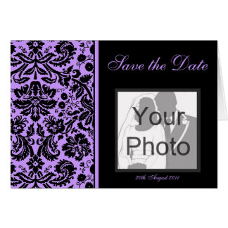 Color Select Damask Save the Date Photo Card