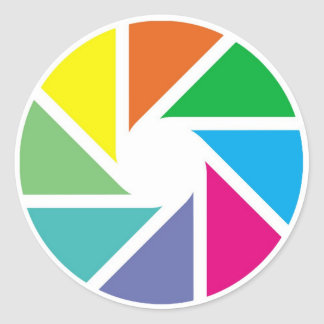Color shapes classic round sticker