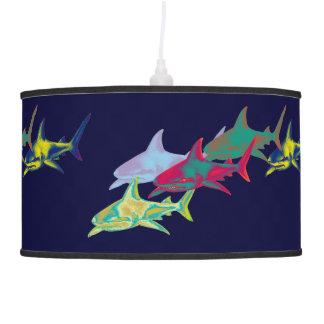 color sharks light pendant lamp