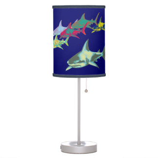 color sharks table lamp