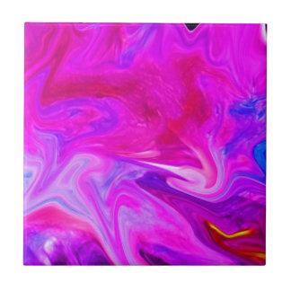 color smear magenta tile
