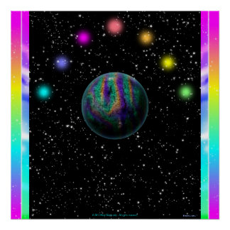 Color space mini poster