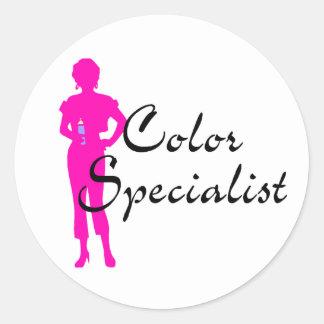 Color Specialist Classic Round Sticker