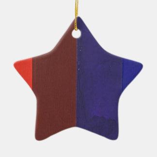 color spectrum ceramic star ornament