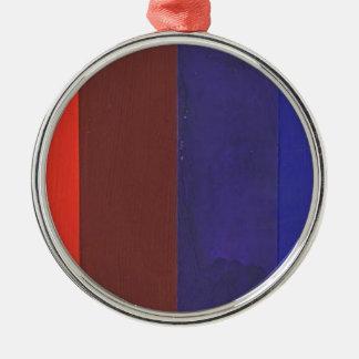 color spectrum Silver-Colored round ornament