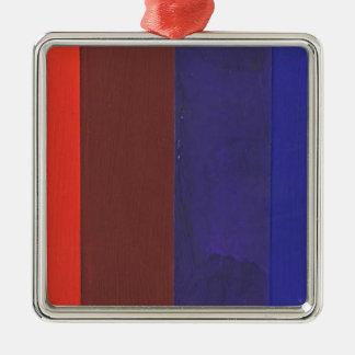 color spectrum Silver-Colored square ornament