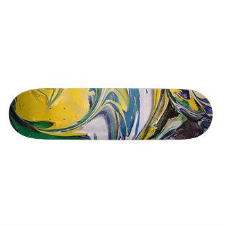 Color Spill #4 Skate Board Deck
