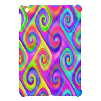Color Spiral Alpgorithmic Pattern Case For The iPad Mini