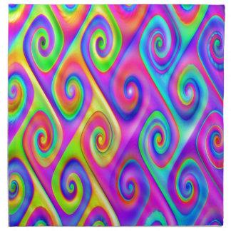 Color Spiral Alpgorithmic Pattern Napkin