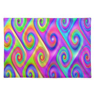 Color Spiral Alpgorithmic Pattern Placemat
