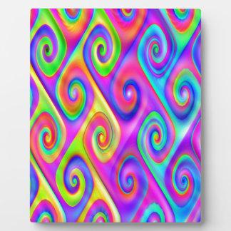 Color Spiral Alpgorithmic Pattern Plaque