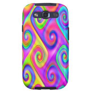 Color Spiral Alpgorithmic Pattern Samsung Galaxy SIII Cover