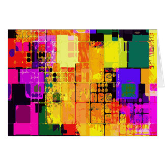 Color Splash Abstract Art Geometric Patterns Card