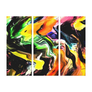 Color Splash Abstract Canvas Print