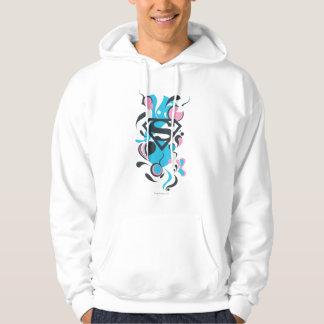 Color Splash Blue Hoodie