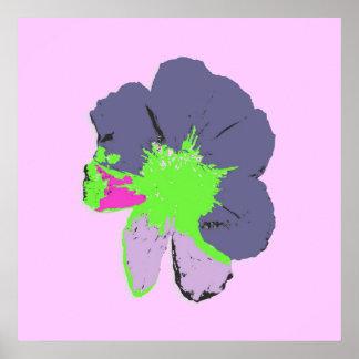 Color Splash/ PopArt Flower Print