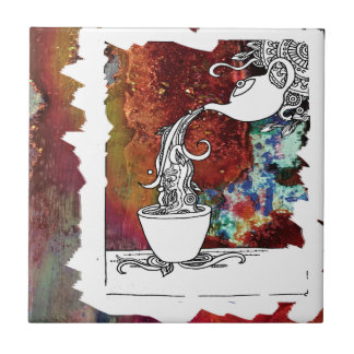 Color Splash Tea! Pour me a Magical Cup of Tea! Tile