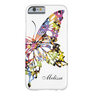 Color Splashed Butterfly iPhone 6 case Barely There iPhone 6 Case