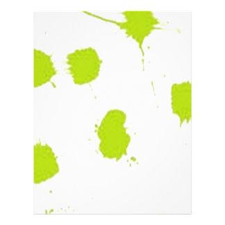 Color splashes design letterhead