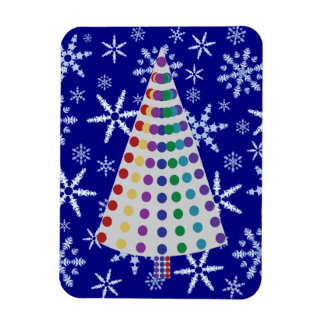 Color Spray Christmas Tree on Snowflake Blizzard Magnet