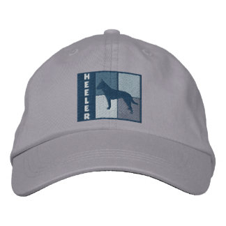 Color Squares Australian Cattle Dog Embroidered Hat