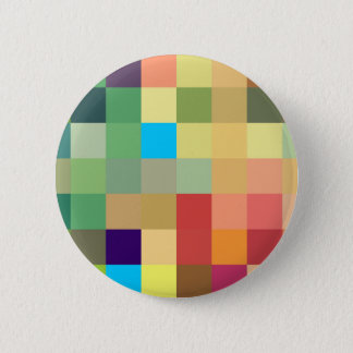 color squares background abstract geometric patter 2 inch round button
