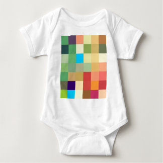 color squares background abstract geometric patter baby bodysuit
