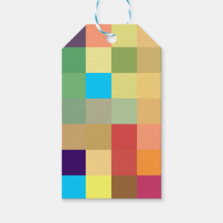 color squares background abstract geometric patter gift tags