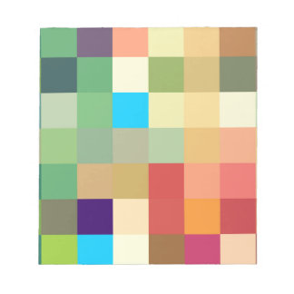 color squares background abstract geometric patter notepad