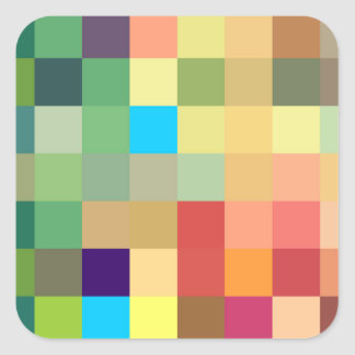 color squares background abstract geometric patter square sticker