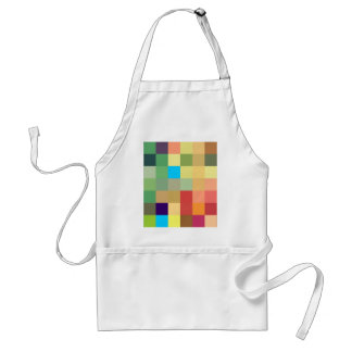 color squares background abstract geometric patter standard apron