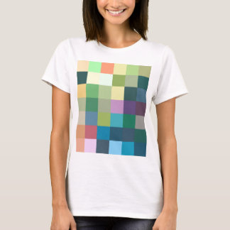 color squares background abstract geometric patter T-Shirt