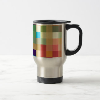 color squares background abstract geometric patter travel mug