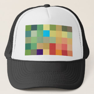 color squares background abstract geometric patter trucker hat