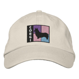 Color Squares Pembroke Welsh Corgi Embroidered Hat