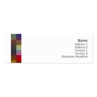 Color Squares - Skinny Pack Of Skinny Business Cards