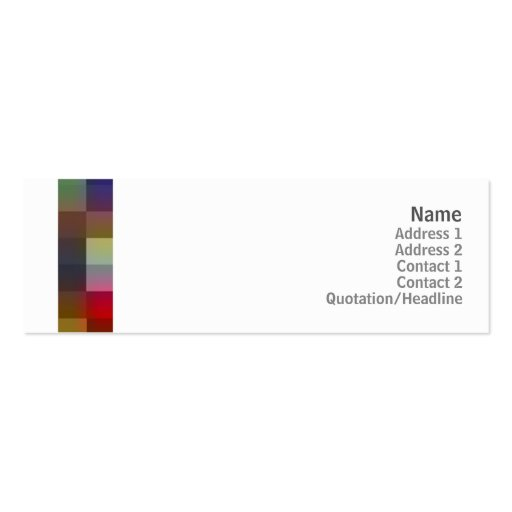 Color Squares - Skinny Business Card Template